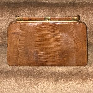 VINTAGE-GENUINE LIZARD SKIN BAG(AS IS)-NO STRAP